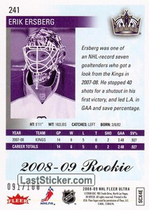 Erik Ersberg (Los Angeles Kings) - Back
