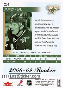 James Neal (Dallas Stars) - Back