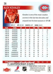 Alex Kovalev (Montreal Canadiens) - Back