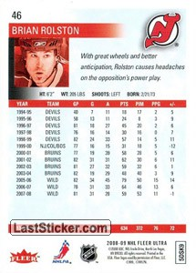 Brian Rolston (New Jersey Devils) - Back