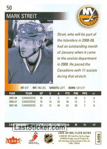 Mark Streit (New York Islanders) - Back