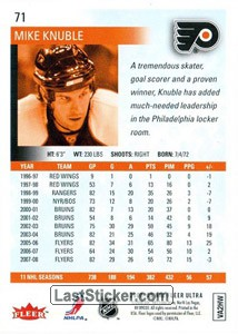 Mike Knuble (Philadelphia Flyers) - Back
