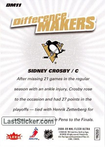 Sidney Crosby (Pittsburgh Penguins) - Back