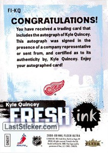Kyle Quincey (Detroit Red Wings) - Back
