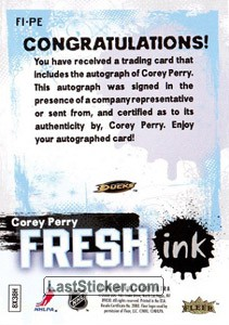Corey Perry (Anaheim Ducks) - Back