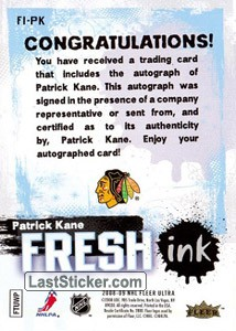 Patrick Kane (Chicago Blackhawks) - Back