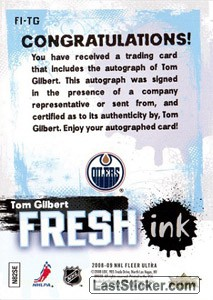 Tom Gilbert (Edmonton Oilers) - Back