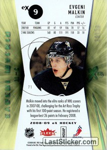 Evgeni Malkin (Pittsburgh Penguins) - Back