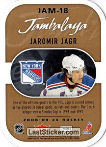 Jaromir Jagr (New York Rangers) - Back