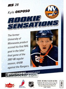 Kyle Okposo (New York Islanders) - Back