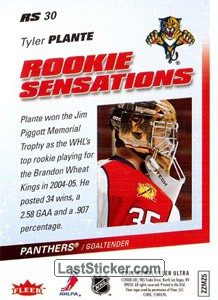 Tyler Plante (Florida Panthers) - Back