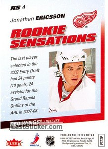 Jonathan Ericsson (Detroit Red Wings) - Back