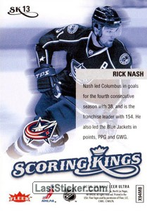 Rick Nash (Columbus Blue Jackets) - Back