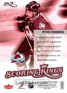 Peter Forsberg (Colorado Avalanche) - Back