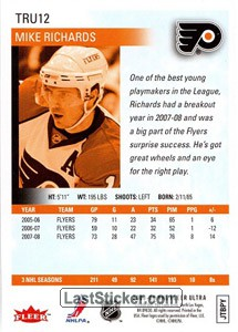 Mike Richards (Philadelphia Flyers) - Back