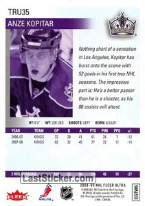 Anze Kopitar (Los Angeles Kings) - Back
