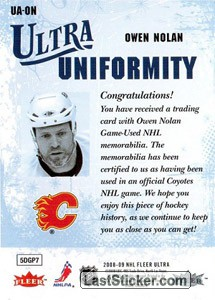 Owen Nolan (Calgary Flames) - Back