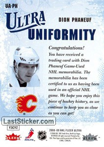 Dion Phaneuf (Calgary Flames) - Back