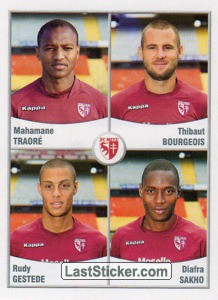 Traore/Bourgeois/Gestede/Sakho (FC Metz)