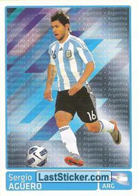 Sergio Aguero (Argentina) (Players In Action)