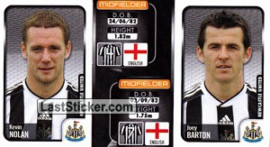 Kevin Nolan/Joey Barton (a/b) (Newcastle United)