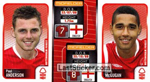 Paul Anderson/Lewis Mcgugan (a/b) (Nottingham Forest)