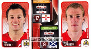 Ivan Sproule/David Clarkson (a/b) (Bristol City)