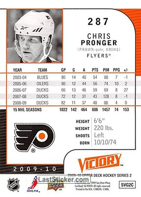 Chris Pronger (Philadelphia Flyers) - Back