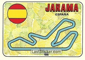 racetrack layout JARAMA Spain GP