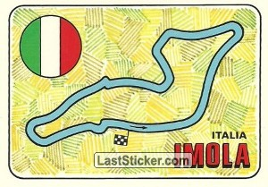 racetrack layout IMOLA Italy GP