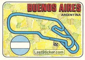 racetrack layout BUENOS AIRES Argentina GP