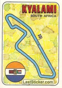 racetrack layout KYALAMI South Africa GP