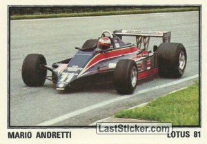 TEAM LOTUS 81 Mario Andretti