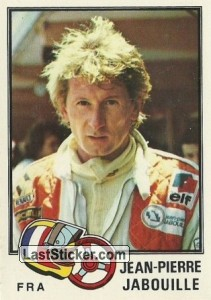sticker 79 jean pierre jabouille panini f1 grand prix season 1980. Black Bedroom Furniture Sets. Home Design Ideas
