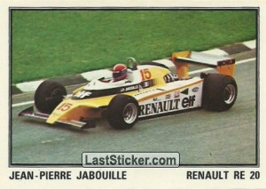 RENAULT RE 20 Jean-Pierre Jabouille