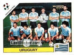 Team photo Uruguay (Group E - Uruguay)