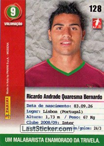 Quaresma (Portugal) - Back