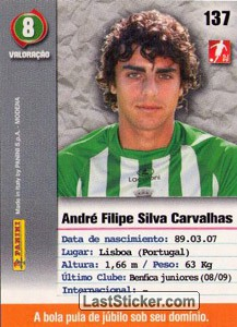 Andre Carvalhas (Rio Ave) - Back