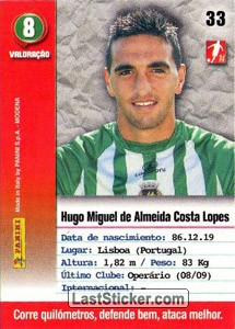 Miguel Lopes (Rio Ave) - Back