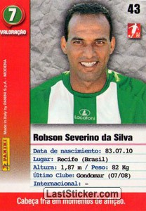 Robson (V.setubal) - Back