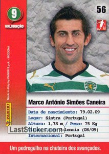 Caneira (Sporting) - Back