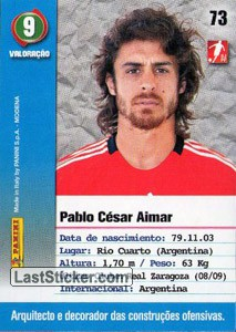 Aimar (Benfica) - Back