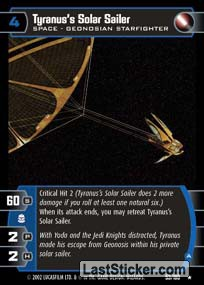 Tyranus's Solar Sailer (A) (Space)