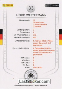 Heiko Westermann (Action-Cards) - Back