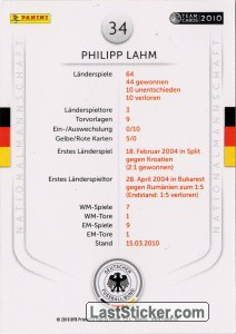 Philipp Lahm (Action-Cards) - Back
