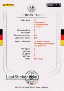 Serdar Tasci (Action-Cards) - Back