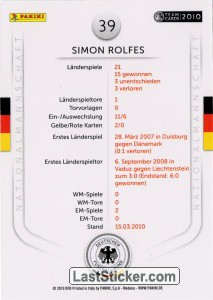 Simon Rolfes (Action-Cards) - Back