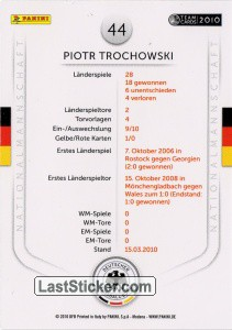 Piotr Trochowski (Action-Cards) - Back