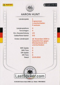 Aaron Hunt (Action-Cards) - Back