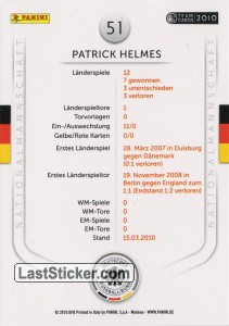 Patrick Helmes (Action-Cards) - Back